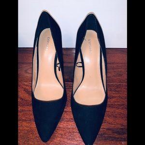 Express faux suede shoes sz 8